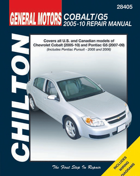 chevrolet cobalt pontiac g5 chilton repair manual 2005 2010 rh autobarn net 2006 Chevy Cobalt LT Manual 2006 Chevy Cobalt Repair Manual