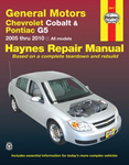 Chevrolet Cobalt & Pontiac G5 Haynes Repair Manual (2005-2010)