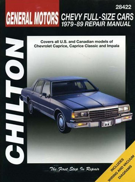 chevrolet full size cars chilton repair manual 1979 1989 hay28422 rh autobarn net 1991 Caprice CL1 Cars 2006