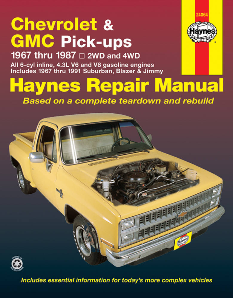 chevrolet gmc pick ups haynes repair manual 1967 1991 hay24064 rh autobarn net Running Model V8 Engine Kit First Chevrolet V8 Engine