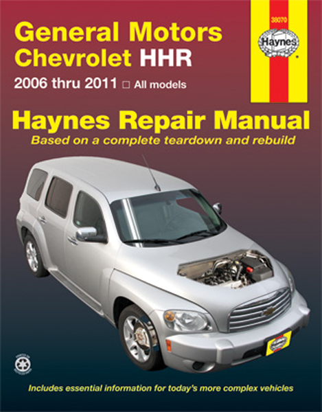 chevrolet hhr haynes repair manual 2006 2011 hay38070. Black Bedroom Furniture Sets. Home Design Ideas