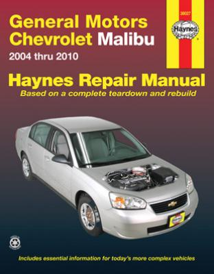 chevrolet malibu haynes repair manual 2004 2010 hay38027. Black Bedroom Furniture Sets. Home Design Ideas