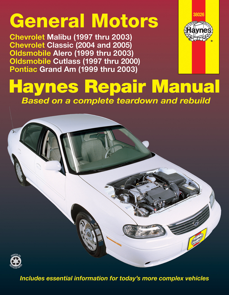 gm malibu classic alero cutlass grand am haynes repair manual rh autobarn net 2004 grand am service manual 2004 pontiac grand am manual