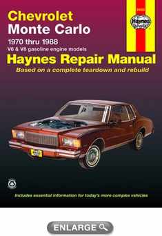 Chevrolet Monte Carlo Haynes Repair Manual