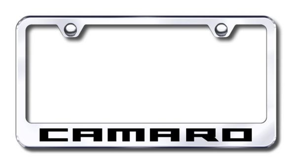 Chevy Camaro Laser Etched Stainless Steel License Plate Frame ...