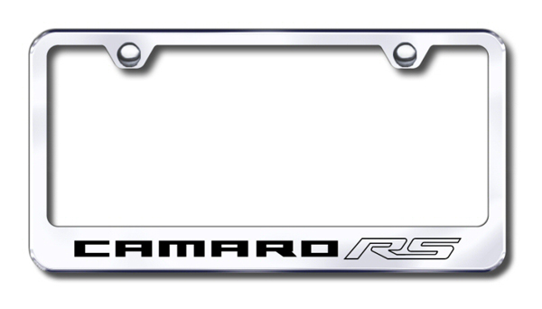 Chevy Camaro RS Laser Etched Stainless Steel License Plate Frame ...