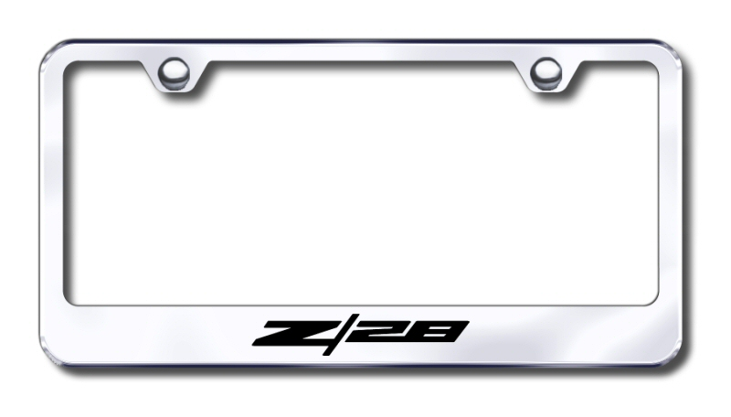 Chevy Camaro Z/28 Laser Etched Stainless Steel License Plate Frame ...