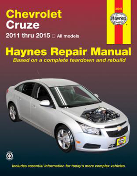 chevy cruze haynes repair manual 2011 2015 hay24044. Black Bedroom Furniture Sets. Home Design Ideas