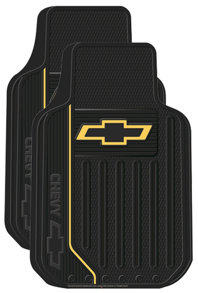 Chevy Logo Rubber Floor Mats Pair Xxx1470pc