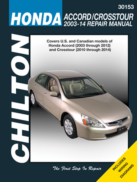 chilton repair manual for honda accord crosstour 2003 2014 rh autobarn net Honda Accord Parts 1989 Honda Accord Manual