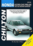 Chilton Repair Manual For Honda Accord, Civic & Prelude (1973-1983)