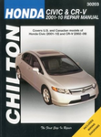 Chilton Repair Manual For Honda Civic & CR-V (2001-2010)