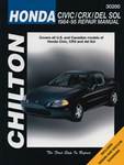 Chilton Repair Manual For Honda Civic, CRX & Del Sol (1984-1995)