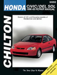 Chilton Repair Manual For Honda Civic & Del Sol (1996-2000)