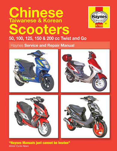Chinese Taiwanese and Korean Scooters Haynes Repair Manual