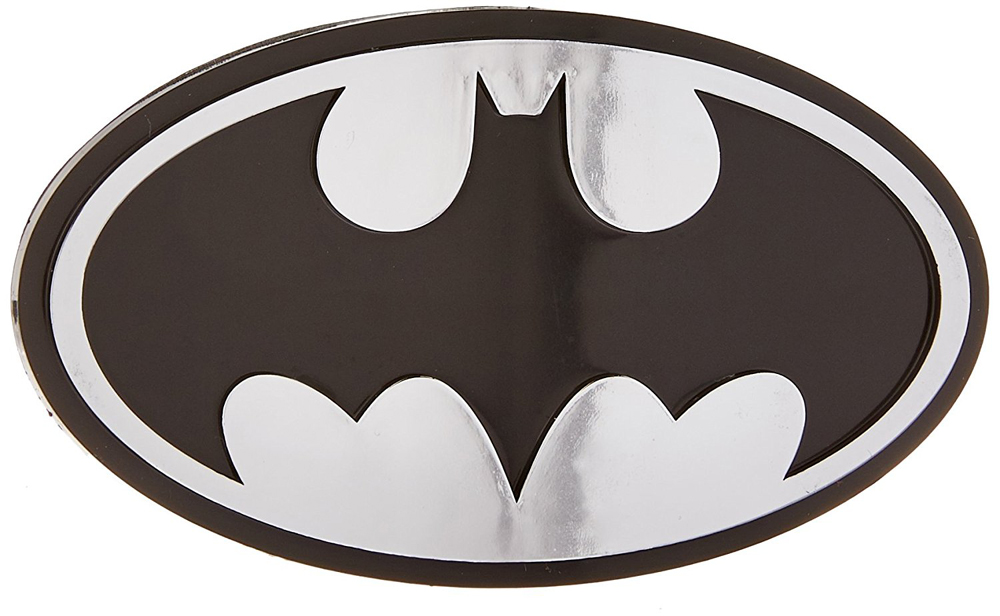 Image of Batman Logo Chrome Colored Decal