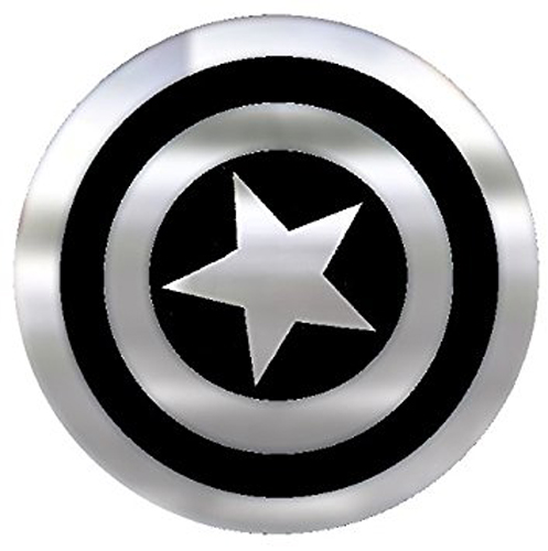 Image of Captain America Shield Chrome Colored Decal
