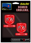Chroma Dodge Domed Emblems