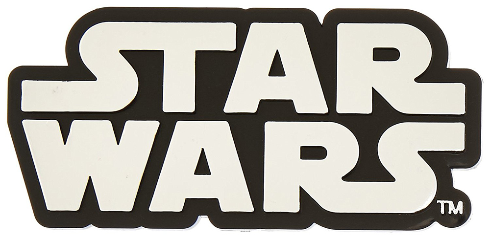 Star Wars Logo Chrome Colored Decal
