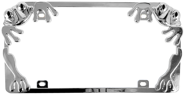 Chrome Frog Metal License Plate Frame - CUS92760