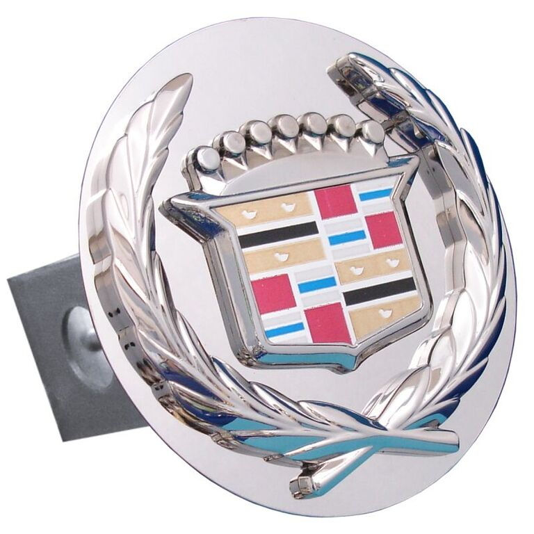 Chrome Old Cadillac Logo Stainless Steel Hitch Plug