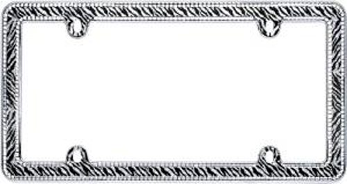 Chrome Plated Clear Zebra Bling License Plate Frame - CRU18503