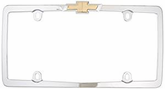 Chrome Plated Gold Chevrolet Logo License Plate Frame