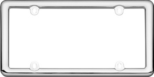 Image of Chrome Plated Plastic License Plate Frame