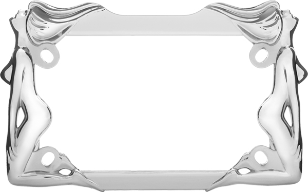 Chrome Twins Motorcycle License Plate Frame - CRU77930
