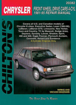 Chrysler Front Wheel Drive 4 Cylinder Cars Chilton Manual (1981-1995)
