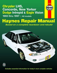 Chrysler LHS, Concorde, New Yorker, & Dodge Intrepid & Eagle Vision Haynes Repair Manual (1993-1997)