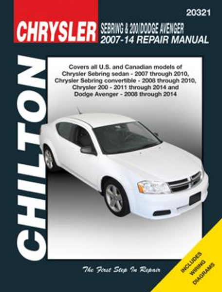 Chrysler repair user manualss user manuals array chrysler sebring 200 u0026 dodge avenger chilton repair manual 2007 rh autobarn net fandeluxe Choice Image