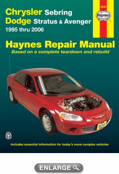 chrysler sebring dodge stratus avenger haynes repair manual 1995 rh autobarn net dodge intrepid 2000 manual pdf 1999 Dodge Intrepid