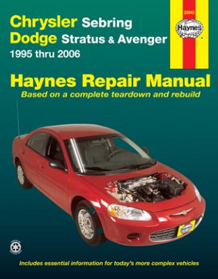 chrysler sebring dodge stratus avenger haynes repair manual 1995 rh autobarn net 1998 Chrysler Concorde LXI 2004 Chrysler Concorde LXI