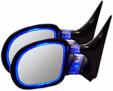 CIPA Blue Optic Glow Side View Mirrors (Pair)