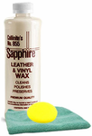 Collinite 855 Leather and Vinyl Wax (16 oz.), Microfiber Cloth & Foam Pad Kit