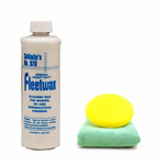 Collinite 870 Fleetwax Liquid Cleaner Wax (16 oz), Microfiber Cloth & Foam Pad Kit