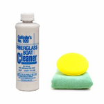 Collinite 920 Fiberglass Boat Cleaner (16 oz.), Microfiber Towel & Foam Pad Kit