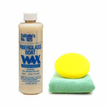 Collinite 925 Fiberglass Boat Wax (16 oz.), Microfiber Towel & Foam Pad Kit