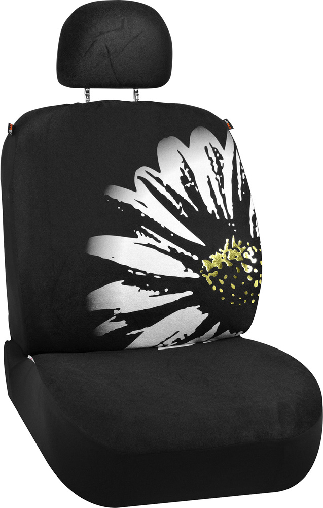 Image of Daisy Flower Design Universal Low Back Seat Cover