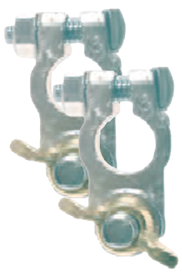 Image of Deka Wing Nut Lead Marine Battery Terminals (2 Pack)