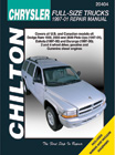Dodge Full-Size Trucks (1997-00) Chilton Manual