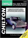 Dodge & Plymouth Full-Size Pick-Up Chilton Repair Manual (1967-1988)