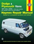 Dodge & Plymouth Full-size Vans Haynes Repair Manual (1971-2003)
