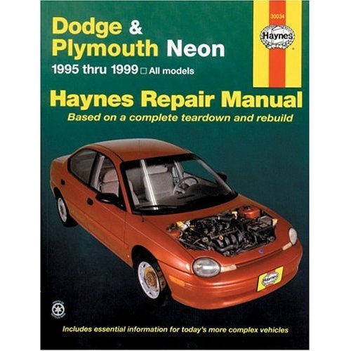 dodge plymouth neon haynes repair manual 1995 1999 hay30034 rh autobarn net 1999 dodge neon manual window regulator 2005 Dodge Neon