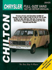 Dodge & Plymouth Vans Chilton Manual (1967-1988)