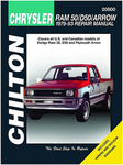 Dodge Ram, 50, D50 & Plymouth Arrow Chilton Manual (1979-1993)