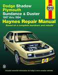 Dodge Shadow, Plymouth Sundance & Duster Haynes Repair Manual (1987 - 1994)