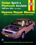 Dodge Spirit & Plymouth Acclaim Haynes Repair Manual (1989 - 1995)