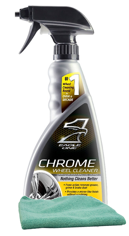 Image of Eagle One Chrome Wheel Cleaner 23 oz. Microfiber Cloth Kit